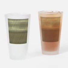 metal art stripes golden Drinking Glass