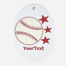 CUSTOMIZE Baseball Ornament (Oval)