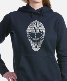 Hockey Goalie Mask Hooded Sweatshirt