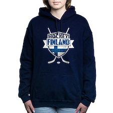Suomi Finland Hockey Shield Hooded Sweatshirt