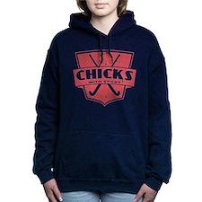 Field Hockey Chicks With Sticks Hooded Sweatshirt