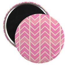 Bubblegum Pink Chevron  Magnet