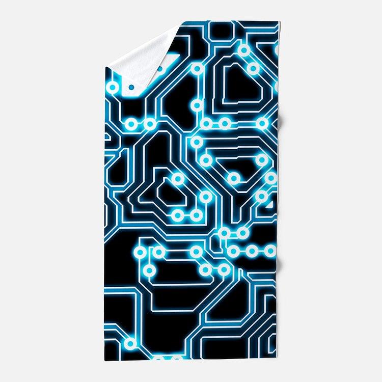 ElecTRON - Blue/Black Beach Towel