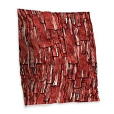 Got Meat? - Overlapping bacon pieces Burlap Throw