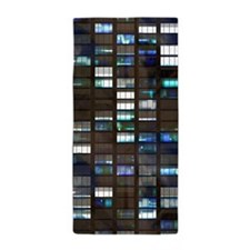 Skyscraper by Night Beach Towel