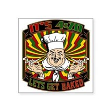 Its 420 - Lets Get Baked Sticker