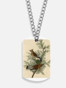 Audubon Cedar Waxwing Bird Dog Tags
