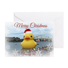 Merry Christmas Duck Greeting Card