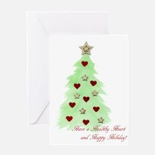 Heart Holiday Card Greeting Cards