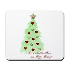 Heart Holiday card Mousepad