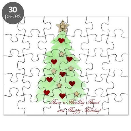 Heart Holiday card Puzzle