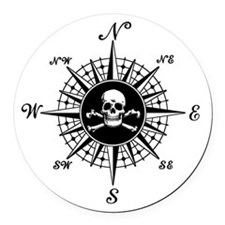 Cute Pirate Round Car Magnet