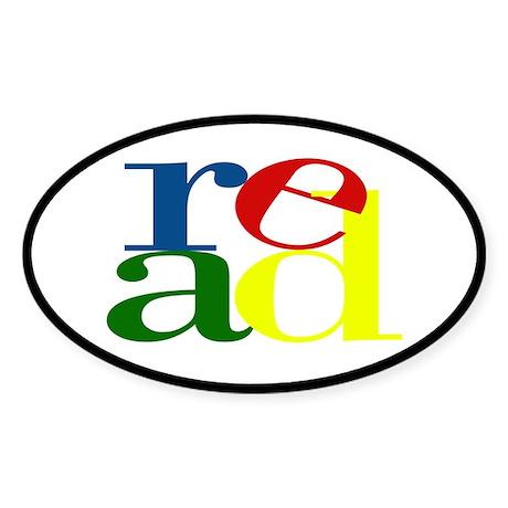 Read - Inspirational Education Sticker (Oval 10 pk