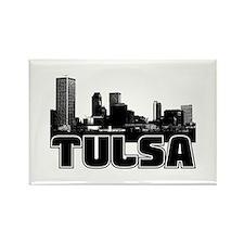 Tulsa Skyline Rectangle Magnet