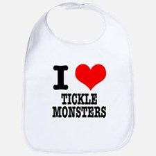 I Heart (Love) Tickle Monsters Bib