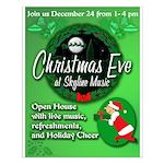 Skyline Christmas Eve Posters
