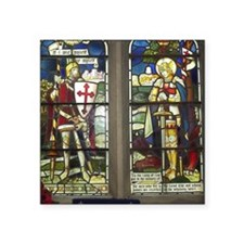 "Sir Galahad and St. George Square Sticker 3"" x 3"""