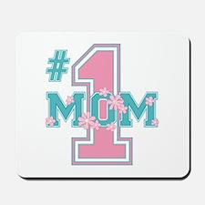#1 Mom Pink Mousepad