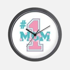 #1 Mom Pink Wall Clock