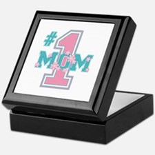 #1 Mom Pink Keepsake Box