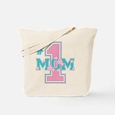 #1 Mom Pink Tote Bag