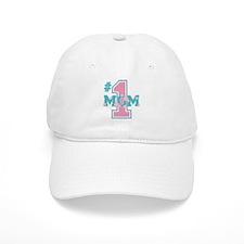 #1 Mom Pink Baseball Cap