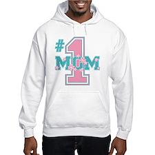 #1 Mom Pink Hoodie