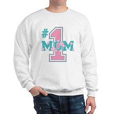 #1 Mom Pink Sweatshirt