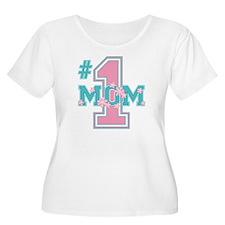 #1 Mom Pink T-Shirt