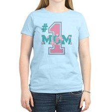 #1 Mom Pink T-Shirt