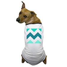 Teal Chevron  Dog T-Shirt