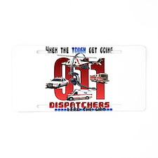 Cute 911 dispatcher Aluminum License Plate