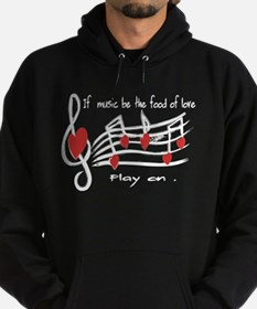 Musical note love hearts Hoodie