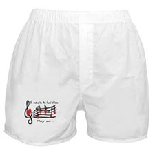 Musical note love hearts Boxer Shorts