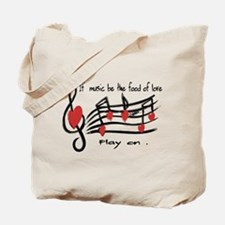 Musical note love hearts Tote Bag