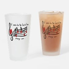 Musical note love hearts Drinking Glass