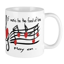 Musical note love hearts Mugs