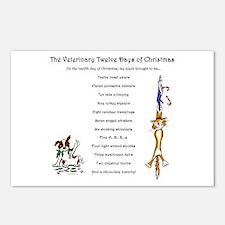 Veterinary Twelve Days Of Christmas Postcards (8)