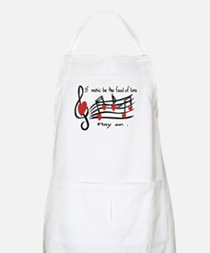Musical note love hearts Apron