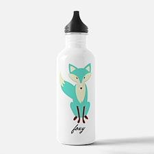 Teal Foxy  Sports Water Bottle