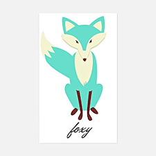 Teal Foxy  Decal