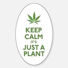 Keep Calm Its Just A Plant Decal