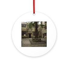 Skipton Castle Courtyard Round Ornament