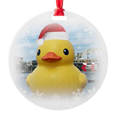 Santa Duck Ornament