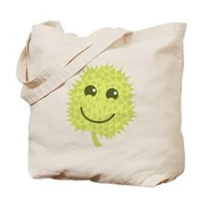 Happy Durian cute fruit with a smile Tote Bag