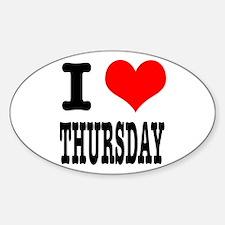 I Heart (Love) Thursday Oval Decal