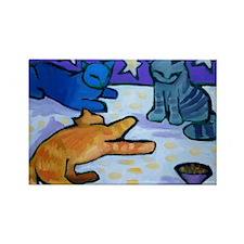 Three Cats Magnets