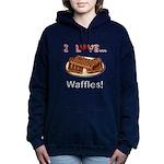 I Love Waffles Hooded Sweatshirt