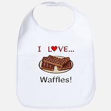 I Love Waffles Bib