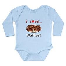 I Love Waffles Long Sleeve Infant Bodysuit